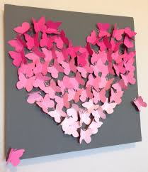 Diy Butterfly Decoration On Gray Chalkboard