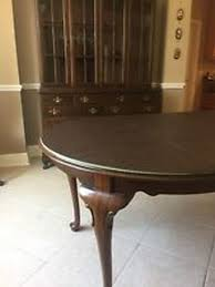 Ethan Allen Solid Cherry Georgian Court Dining Room Table And Buffet With Hutch On
