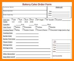12 cake order form template