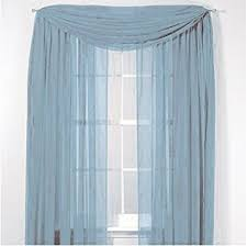 amazon com elegance voile blue sheer curtain 40 x216 scarf