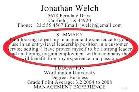 Examples Of Summary On Resume Overview For Summaries Resumes Professional Home Example Profile