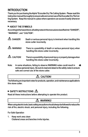 alpha tool hk limited cutter ecc125 user manual
