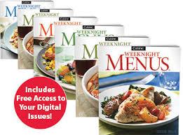 cuisine en promo cuisine weeknight menus