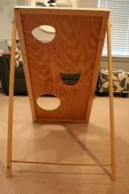 Bean Bag Toss Back View Shows How To Make A Sturdy Support See More Games Halloween Carnival