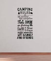 Image Is Loading Camping Rules Subway Art Wall Decals Sticker Camper
