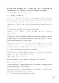 idcc 2543 accord de révision des articles des périodes d essai