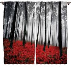 Mystic Forest Digital Photography Print Curtains Home Decorations For Bedroom Living Dining Room Kids Youth