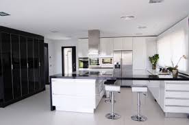 White Black Kitchen Design Ideas by Kitchen Modern White And Black Kitchens Intended For Residence