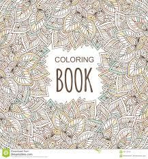 Coloring Book Album Cover Poster In Unique Zentangle Style Vector Hand
