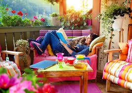 feng shui auf dem balkon zuhause bei sam