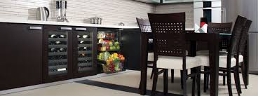 U Line Undercounter Wine Cellars And Refrigerator With Custom Panels