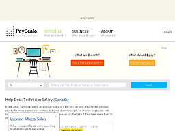 Help Desk Technician Salary Canada by Www Payscale Com Paralegal Salary