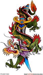 Snake Wrapped Long Tribal Sword Tattoo Design