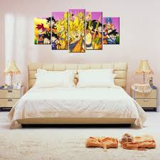 Dragon Ball Z Decorations by 5 Piece Dragon Ball Z Poster Picture Canvas Wall Decor Art