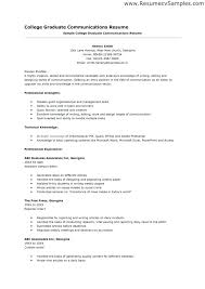Sample Resume College Student No Experience For Recent Graduate With