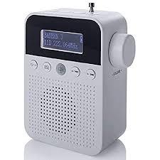 newtro dab steckdosenradio mit bewegungsmelder inkl akku portabler radio ideales badradio mit automatischer ein und abschaltung weckfunktion