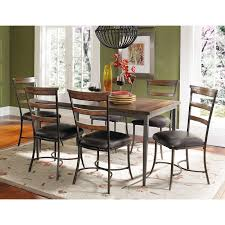 Seven Piece Dining Room Set by Hillsdale Cameron 7 Piece Rectangle Wood And Metal Dining Table