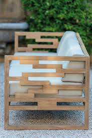 Kon Tiki Wood Deck Tiles by Sled Base Teak Garden Armchair Kontiki Collection By Emu Group
