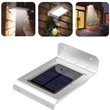 waterproof 24 led solar powered motion sensor light wall mount