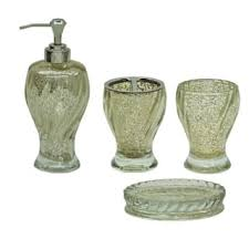 Mercury Glass Bathroom Accessories by Glass Bathroom Accessories For Less Overstock Com