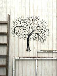 Impressive Rustic Metal Wall Decor Together With Black Wrought Iron Cor Large Round Art Tree By