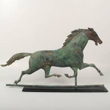 Antique Vintage J.W. Fiske Cast Iron + Patchen Copper Running ... Storm Rider Horse Weathervane With Raven Rider Richard Hall Outdoor Cupola Roof Horse Weathervane For Barn Kits Friesian Handcrafted In Copper Craftsman Creates Cupolas And Weathervanes Visit Downeast Maine Polo Pony Of This Fabulous Jumbo Weather Vane Is Made Of Copper A Detail Design Antique Weathervanes Ideas 22761 Inspiring Classic Home Accsories Fresh Great Sale 22771