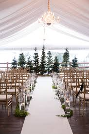 Steins Christmas Trees by Tented Wedding Ceremony With Evergreen Trees And Candles Winter