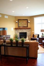 17 ravishing living room designs with corner fireplace 17