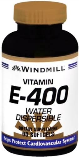 Windmill Vitamin E-400 Supplement - Water Dispersible, 90 Softgels