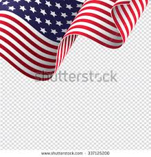 American Flag On Transparent Background