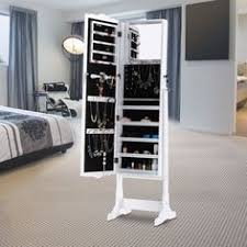 Free Standing Kitchen Cabinets Amazon by Amazon Com Langria Free Standing Lockable Jewelry Cabinet Full