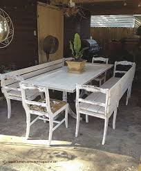 Dining Table With Benches Farmhouse
