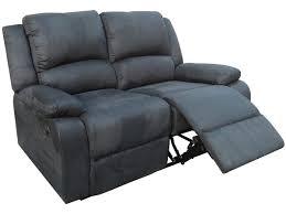 canapé de relaxation 2 places canape relax york 2 places noir 83727 83735