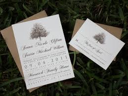 Rustic Magnolia Tree Wedding Invitation Suite With Brown Kraft Paper Envelopes