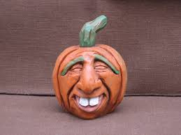 Motley Pumpkin Patch by Hand Carved Halloween Pumpkin Jack O Lantern 25 00 Via Etsy