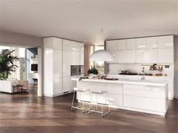Great Modern Kitchen With White Appliances Related To Interior Decorating Plan