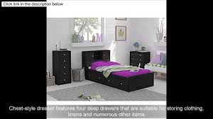 Black Dresser 4 Drawer by Essential Home Belmont Dresser Chest 4 Drawer Kids Bedroom