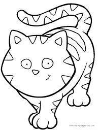 Gorgeous Inspiration Coloring Page Cat Color Pages Printable Free Cats And Sheets Can Be Found