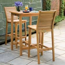 Tall Bistro Table Set Wooden For Dining Room Outdoor Bar ...