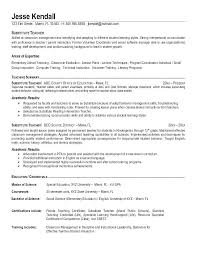 Elementary Education Resume Teacher Sample Examples 2013