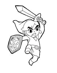 Zelda Coloring Pages Toon Link Printable