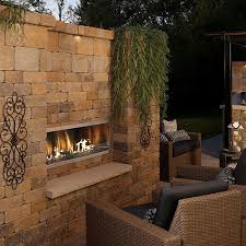 Firegear Kalea Bay Outdoor Gas Fireplaces Single Sided Or See Through