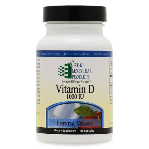 Ortho Molecular Products Vitamin D Dietary Supplement - 180ct