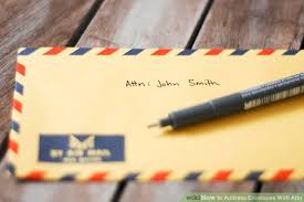 How to Address Envelopes With Attn with Sample Envelope
