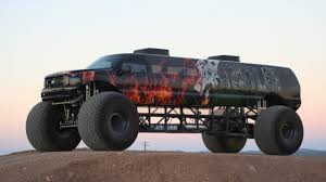 $1M 'Sin City Hustler' Is World's Longest Monster Truck - YouTube 5 Biggest Dump Trucks In The World Red Bull Dangerous Biggest Monster Truck Ming Belaz Diecast Cstruction Insane Making A Burnout On Top Of An Old Sedan Ice Cream Bigfoot Vs Usa1 The Birth Of Madness History Gta Gaming Archive Full Throttle Trucks Amazoncom Big Wheel Beast Rc Remote Control Doors Miami Every Day Photo Hit Dirt Truck Stop For 4 Off Topic Discussions On Thefretboard