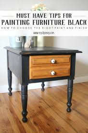 3 of My Must Have Tips for Painting Furniture Black