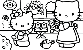 Coloring Pages Hello Kitty And Friends Free Printable Pictures Valentine Large Size