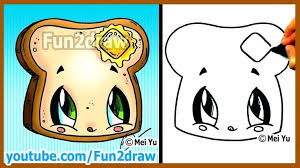 fun2draw food coloring pages to her with cute easy drawings how to draw cartoon food taco easy