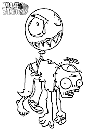 Plants Vs Zombies Coloring Pages Balloon Zombie