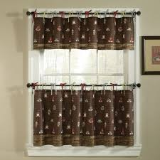 Fat Chef Bistro Kitchen Curtains by Coffee Themed Kitchen Curtains Home Design Ideas And Pictures
